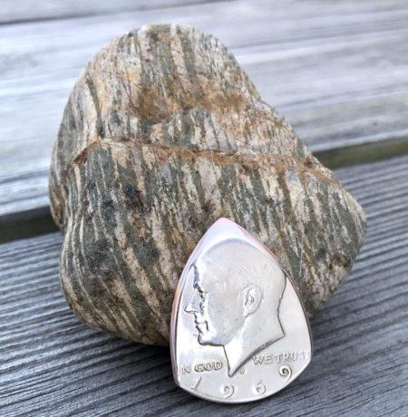 1969 40% Silver Kennedy US Half Dollar 1 Coin Guitar Pick, Coin Guitar Picks