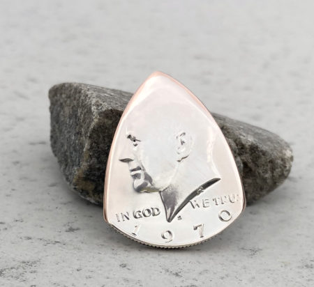 1970 US Half Dollar 40% Silver Coin Guitar Pick, Coin Guitar Picks
