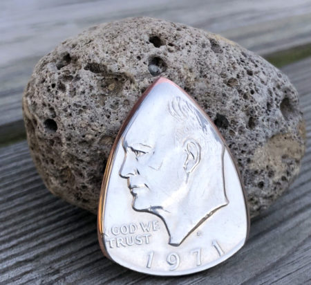 1971 Eisenhower 2 Coin Guitar Pick, Coin Guitar Picks