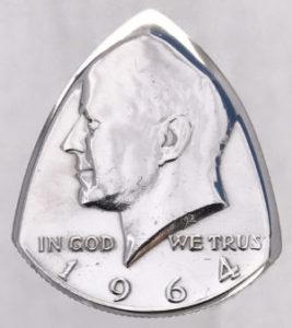 1964 Kennedy Half Dollar The Original Coin Guitar Picks