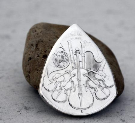 Austrian Philharmonic Front Coin Guitar Pick, Coin Guitar Picks