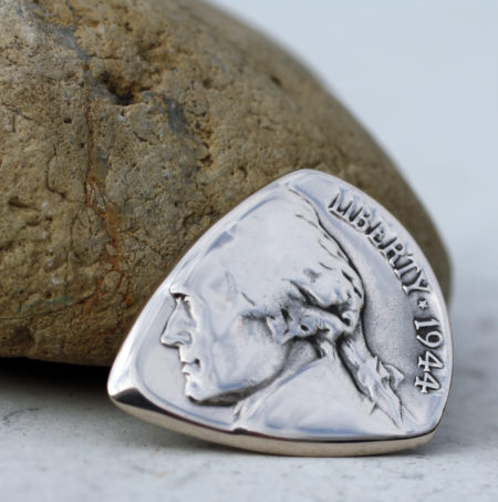 US Silver War Nickel Front-Coin Guitar Pick, Coin Guitar Picks