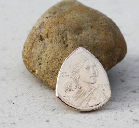 Sacagawea Golden Dollar Front-The Original Coin Guitar Picks Coin Guitar Pick, Coin Guitar Picks