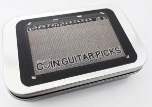 The Original Coin Guitar Picks Commemorative Storage Tin Pick Box
