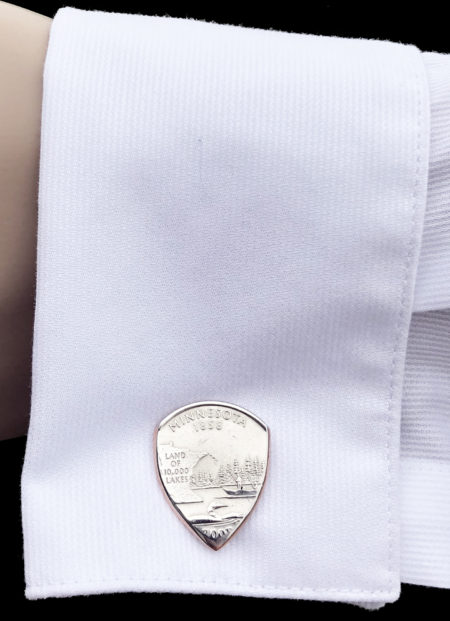 US State Quarter Cufflinks-You Choose the State 2 Coin Guitar Pick, Coin Guitar Picks