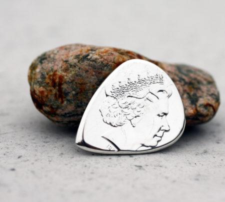 2018 Niue Scrooge McDuck 999 Fine Silver 1 Coin Guitar Pick, Coin Guitar Picks