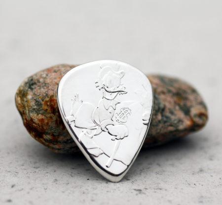 2018 Niue Scrooge McDuck 999 Fine Silver 2 Coin Guitar Pick, Coin Guitar Picks