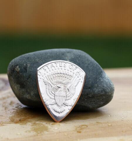 1995 US Kennedy Half Dollar Coin Guitar Pick