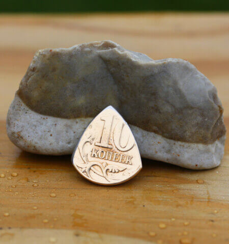 2011 Russia 10 Kopeks Coin Guitar Pick