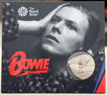2020 UK David Bowie Edition 1 Coin Guitar Pick