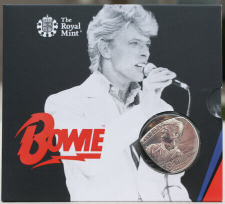 2020 UK David Bowie Edition 2 Coin Guitar Pick