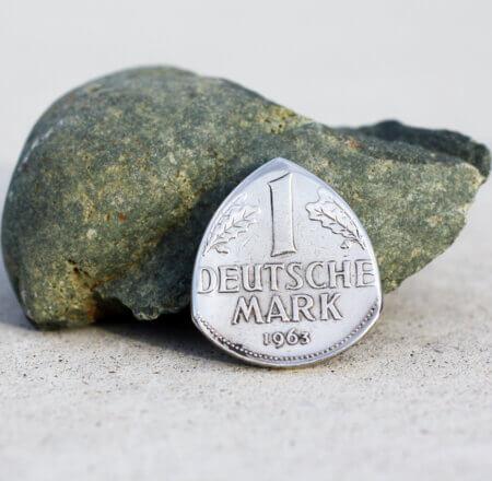 1963 Germany 1 Deutsche Mark Coin Guitar Pick