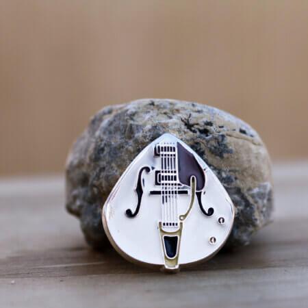 2012 Somalia Gretch White Falcon $1 Coin Guitar Pick