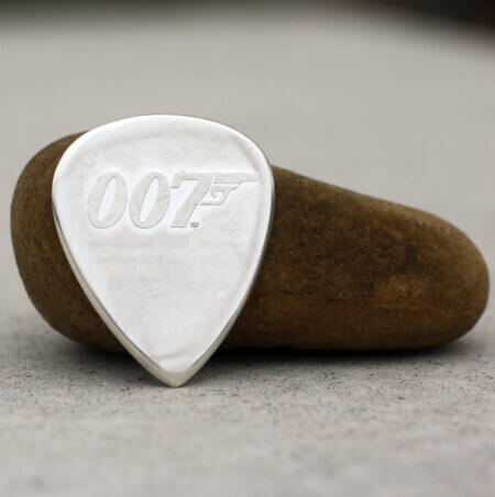2021 UK James Bond No Time to Die 999 silver Coin Guitar Pick