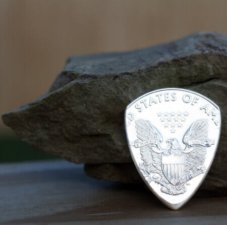 2021 American Eagle 99.9% Fine Silver Coin Guitar Pick